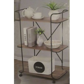 trolley etagere plante salon servante roulette meuble bois fer forge roue ref 430. Black Bedroom Furniture Sets. Home Design Ideas