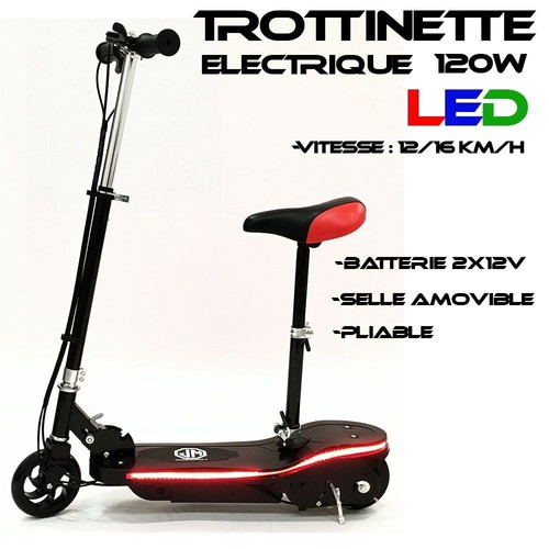trottinette electrique led 120w design noir neuf et d 39 occasion. Black Bedroom Furniture Sets. Home Design Ideas