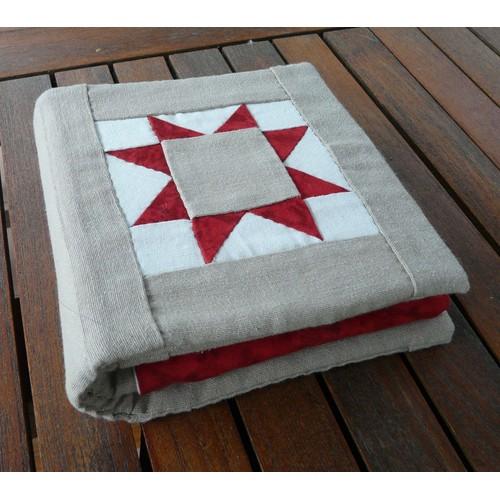 Trousse de couture patchwork fait main achat et vente for Couture a 4 mains