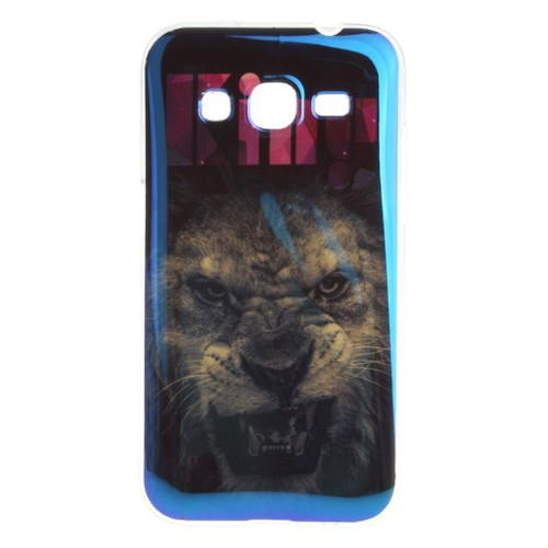 tutuwen pour samsung galaxy core prime sm g360f sm g361f coque lion souple silicone slim tpu. Black Bedroom Furniture Sets. Home Design Ideas