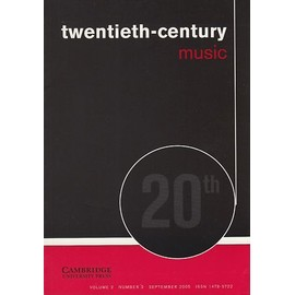 Twentieth-Century Music Volume 2 Number 2 Gawain Bill Viola Barbershop Harmony