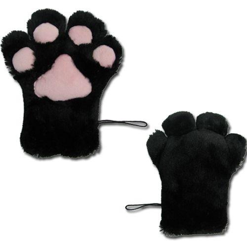 une piece de patte chat noir en peluche doux cosplay. Black Bedroom Furniture Sets. Home Design Ideas