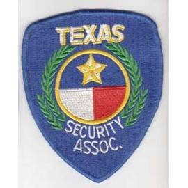 Usa Ecusson Texas Security Association 10 Cms Environ