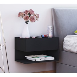 vcm tag re mural table de chevet 39 39 dormal 39 39 noir achat et vente. Black Bedroom Furniture Sets. Home Design Ideas