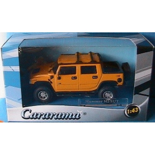 vehicule hummer h2 sut yellow cararama 1 43 4x4 usa new jaune gelb oliex. Black Bedroom Furniture Sets. Home Design Ideas