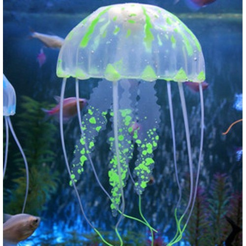verte 5 cm diametre 1 meduse artificielle lumineuse aquarium. Black Bedroom Furniture Sets. Home Design Ideas
