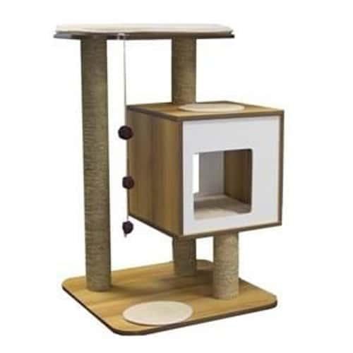 vesper arbre a chat base noyer 605 x 56 x 815 cm achat et vente. Black Bedroom Furniture Sets. Home Design Ideas