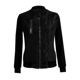 Veste Aviateur Femme Blouson Slim Mode Couleur Unie Coton Casual Hiver Col  Rabattu Manche Longue Manteau Zs300177