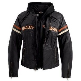 veste blouson cuir femme harley davidson s achat et vente. Black Bedroom Furniture Sets. Home Design Ideas