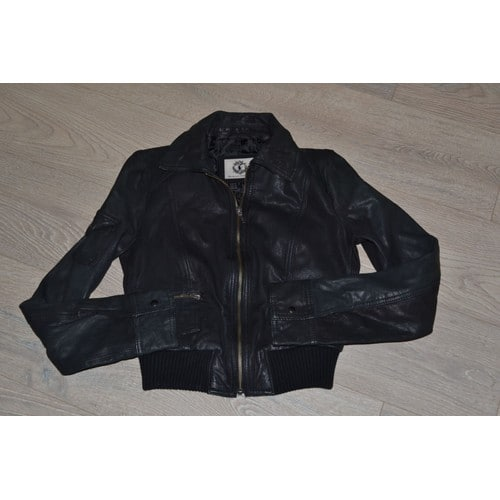 veste blouson en cuir brun zara gar on 12 14 ans achat et vente. Black Bedroom Furniture Sets. Home Design Ideas