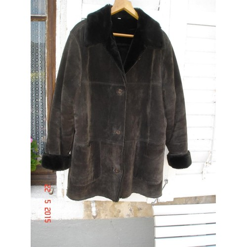 veste burton veste longue femme cuir 46 48 brun achat et vente. Black Bedroom Furniture Sets. Home Design Ideas