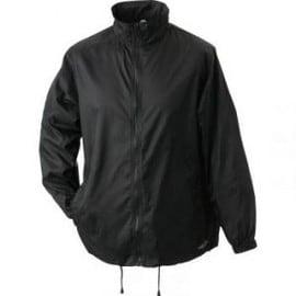 veste coupe vent imperm able homme femme jn195 noir. Black Bedroom Furniture Sets. Home Design Ideas