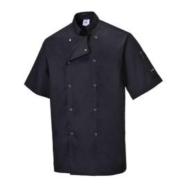 Veste de cuisine portwest cumbria manches courtes achat for Achat veste de cuisine