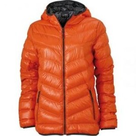 veste duvet capuche doudoune anorak femme jn1059 orange. Black Bedroom Furniture Sets. Home Design Ideas