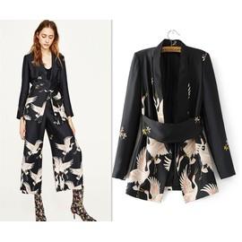 Veste Fleurs À La Imprimés Avec kimono Mode Chère Grues Pas Femme qqHwUg1