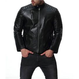 Vêtements Fonctionnelles Cheminée Parka Motard Pu Pas Cuir Veste Homme Cher Blouson Poches Hommes Manteau Col En Yf76gbyv