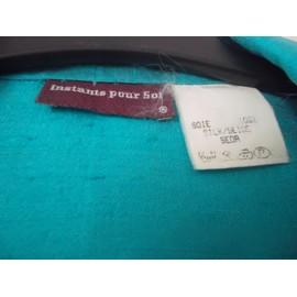 Turquoise Courte T veste 40 soie Rakuten instant Veste Soi Pour qwPav8I