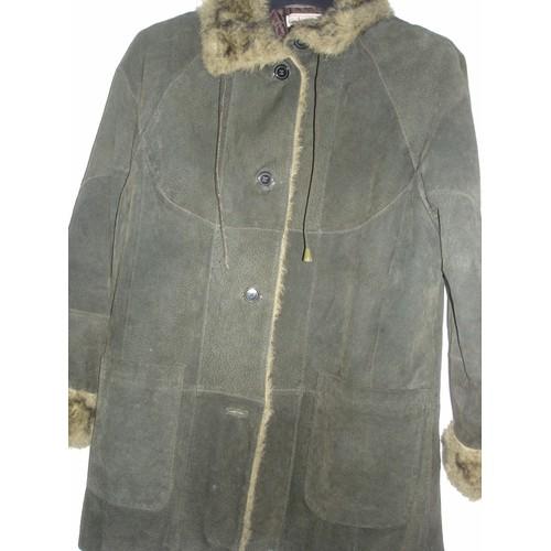 veste longue manteau femme cuir croute de porc neuville t 46 48. Black Bedroom Furniture Sets. Home Design Ideas