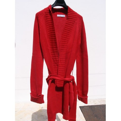 Manteau tres long rouge
