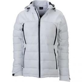 veste matelass e femme anorak ski neige jn1049 blanc. Black Bedroom Furniture Sets. Home Design Ideas