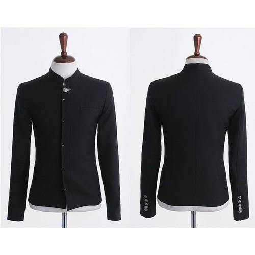 veste noire colier coll gien lyc en japonais uniforme scolaire homme femme cosplay d guisement. Black Bedroom Furniture Sets. Home Design Ideas