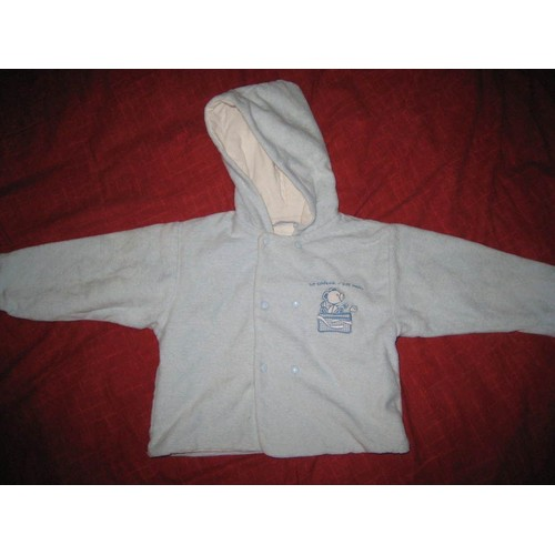 veste petit manteau l ger pour b b avec capuche 12 mois bleu ciel. Black Bedroom Furniture Sets. Home Design Ideas