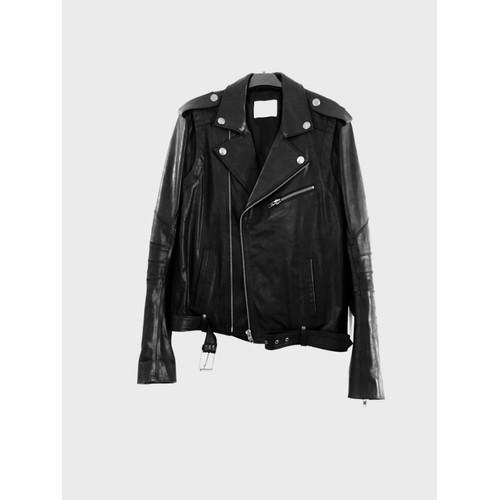 veste pierre balmain perfecto cuir 48 noir achat et vente. Black Bedroom Furniture Sets. Home Design Ideas