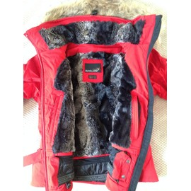 Veste duvillard femme rouge