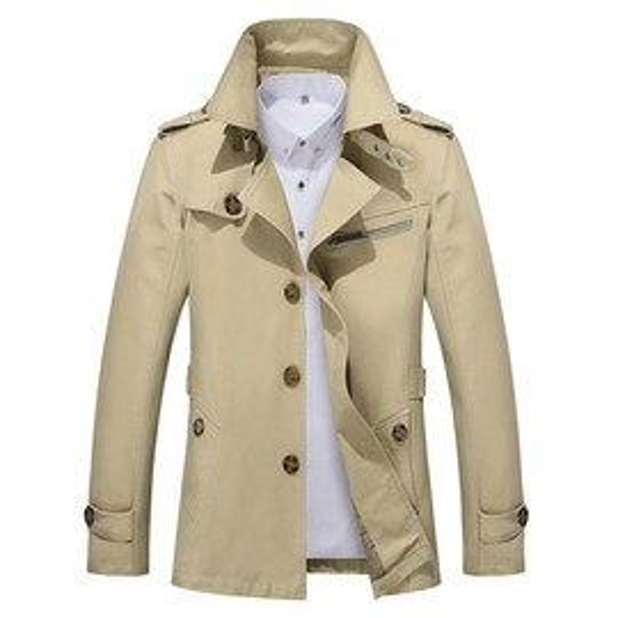 D'automne Vêtement Coton Homme Slim Revers Veste Col En Casual fBPWqSw