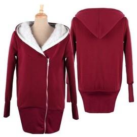 veste sweat chaud femme tunique feminine sport manteau blouson fourrure chaud coton gilet pull. Black Bedroom Furniture Sets. Home Design Ideas
