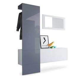 vestiaire blanc mat panneau gris laqu pour meubles dentre design