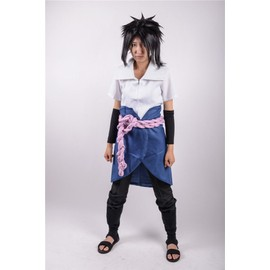 v tements sasuke uchiwa manga anime naruto shippuden japonais veste pantalon ceinture manches. Black Bedroom Furniture Sets. Home Design Ideas