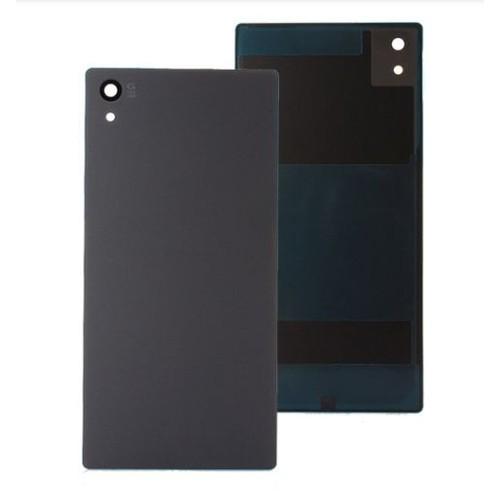 vitre arri re cache batterie pour sony xperia z5 noir pas cher. Black Bedroom Furniture Sets. Home Design Ideas