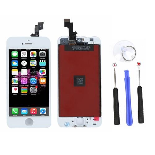 vitre tactile affichage pour iphone 5 se 5se ecran lcd 4pcs outils. Black Bedroom Furniture Sets. Home Design Ideas