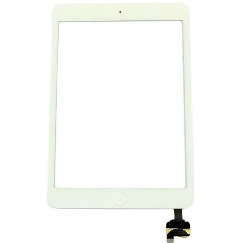 vitre tactile blanc ipad mini mini 2 pr mont e bouton home autocollant. Black Bedroom Furniture Sets. Home Design Ideas