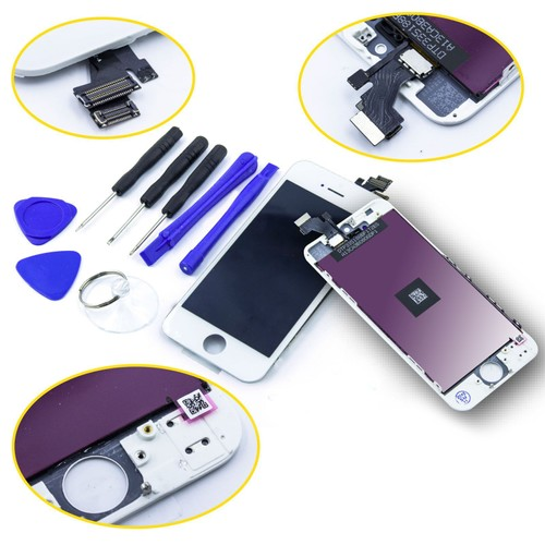 vitre tactile ecran lcd complet assemble sur chassis remplacement pour iphone 5 blanc outils. Black Bedroom Furniture Sets. Home Design Ideas