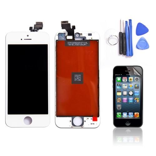 vitre tactile ecran lcd complet assemble sur chassis remplacement pour iphone 5s blanc outils. Black Bedroom Furniture Sets. Home Design Ideas
