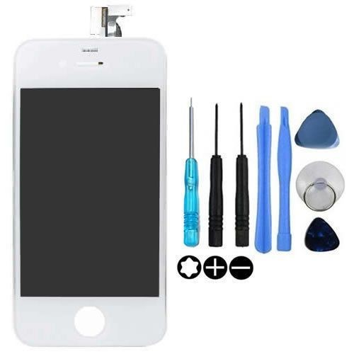 vitre tactile iphone 4 blanc ecran lcd kit outils pour reparation iphone 4. Black Bedroom Furniture Sets. Home Design Ideas