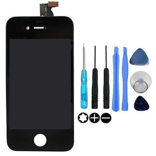 vitre tactile iphone 4s noir ecran lcd grade aaa pour reparation iphone 4s. Black Bedroom Furniture Sets. Home Design Ideas