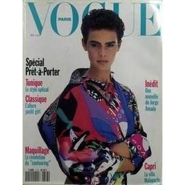 Vogue Paris N� 713 Du 01/02/1991 - Special Pret-A-Porter - Classique Et Tonique - Maquillage - La Revolution Du Contouring - Inedit - Une Nouvelle De Jorge Amado - Capri - La Villa Malaparte.