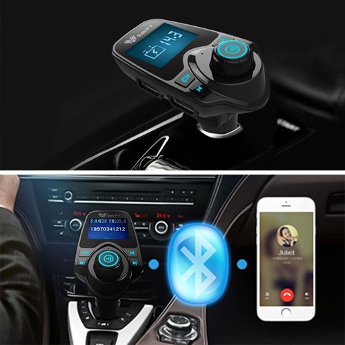 voiture bluetooth transmettre fm mp3 lecteur sans fils parleur pour t l phone portable port usb. Black Bedroom Furniture Sets. Home Design Ideas