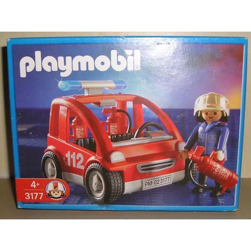 voiture de pompier playmobil achat vente de jouet priceminister rakuten. Black Bedroom Furniture Sets. Home Design Ideas