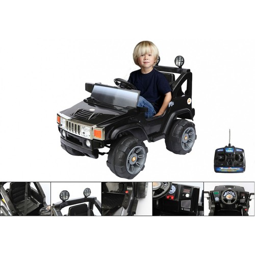 voiture l ctrique voiture pour enfants hummer noir. Black Bedroom Furniture Sets. Home Design Ideas