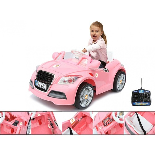 voiture l ctrique voiture pour enfants audi rose 12 v t l commande vitesse 3 5 km h. Black Bedroom Furniture Sets. Home Design Ideas