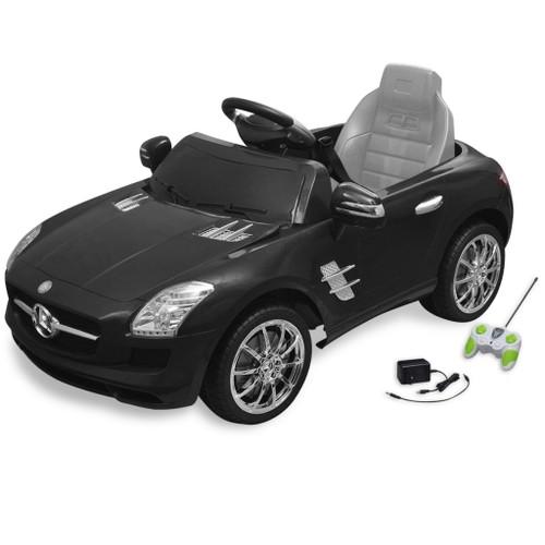 voiture lectrique 6 v avec t l commande mercedes benz sls amg noire. Black Bedroom Furniture Sets. Home Design Ideas