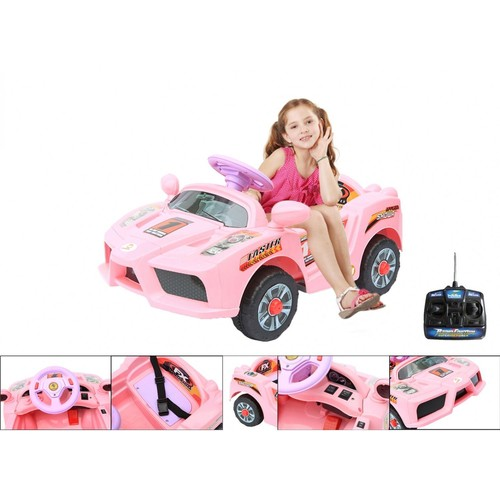 voiture l ctrique voiture pour enfants ferrari rose t l commande type c temps de charge 8. Black Bedroom Furniture Sets. Home Design Ideas