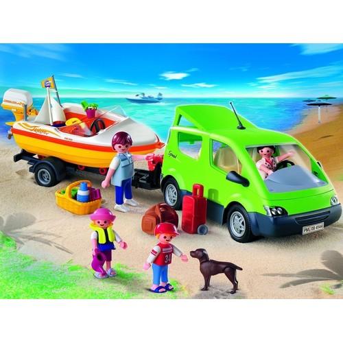 playmobil 4144 voiture familiale avec remorque porte bateaux. Black Bedroom Furniture Sets. Home Design Ideas