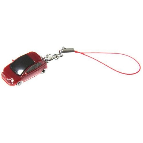 voiture miniature mini fiat 500 type porte clefs 2 5cm rouge. Black Bedroom Furniture Sets. Home Design Ideas