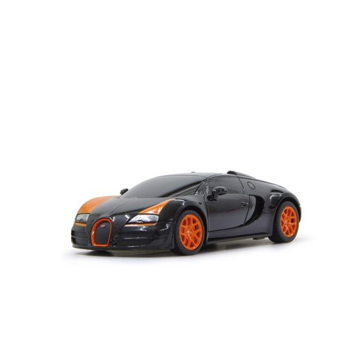 voiture rc bugatti veyron noire et orange 1 18 neuf et d. Black Bedroom Furniture Sets. Home Design Ideas