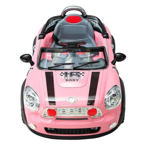 voiture v hicule lectrique pour enfants quad cabriolet t l commande parentale 3 8 ans 6v rose 24. Black Bedroom Furniture Sets. Home Design Ideas